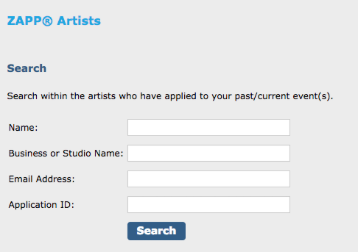 Photo of Artist Search Bars